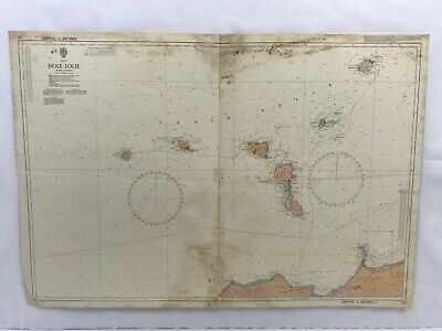 Admiralty Chart Nautical Map Italy Isole Eolie 172 1990