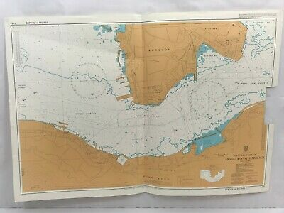 Admiralty Chart Nautical Map South China Sea Central Part of Hong Kong Harbour