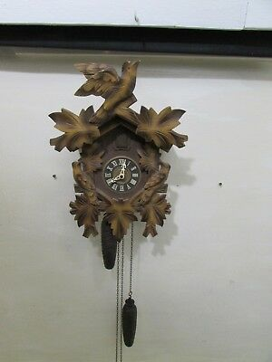Early Vintage German Regula Cuckoo Clock Requires Pendulum & Below