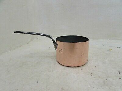 Victorian Maple & Co London Copper Saucepan With Cast Iron Handle