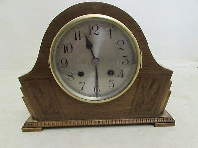 Art Deco Chiming Mantel Clock Fontenoy Movement For Repair