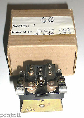 Relais démarrage dynamotor rechange NOS NIB BC604 A/R3 Contacts Ag 2T 12V 20A