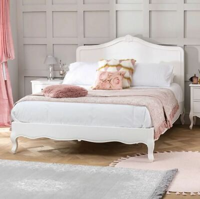 French Chateau White Painted 5ft King Size Bed - Bedroom - FW05