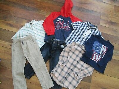 BOYS' BUNDLE NEXT TU F&F GEORGE RIVER ISLAND GAP JEANS SHIRT CAGOULE TOP 2-3yrs