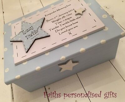 Personalised Christening/birth/new Born/baby Shower Keepsake/memory Box Girl/boy
