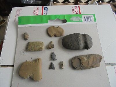 Indian Artifacts Norheastern Pa,  Indian Axe And Tools Celt Points