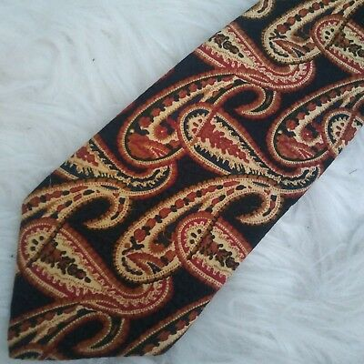 Abercrombie & Fitch mens blue gold paisley classic silk neck tie
