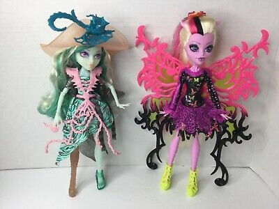 BONITA FEMUR Freaky Fusion & Vandala Doubloons Monster High Lot of 2 Dolls