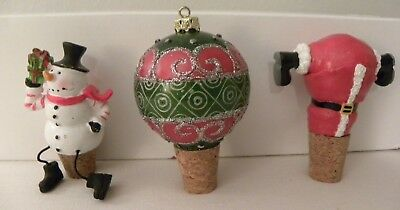 Christmas Wine Stoppers.Christmas Santa Snowman Wine Bottle Cover Table Party