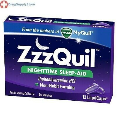 ZzzQuil Nighttime Sleep-Aid LiquiCaps 12 ea NON-HABIT FORMING