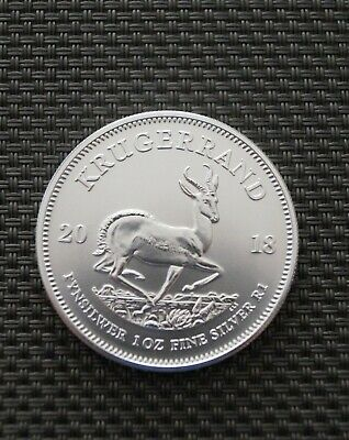 2018 South Africa 1oz Silver Krugerrand bullion coin .999 Fine Silver