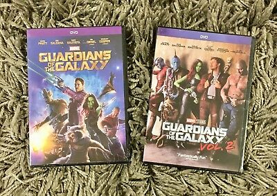 Guardians of the Galaxy 1 & 2 2-DVD Bundle BRAND NEW Free Shipping