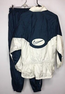 Vintage Womens 90s Nike 2 Piece Track Warmup Suit Drawstring Waist LARGE