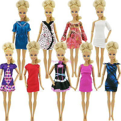10Pcs Fashion Mini Dress Wedding Party Summer Outfit Clothes For 12 in. Toy Doll