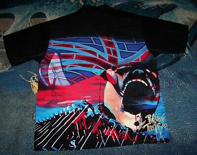 40a0234ab6 Vintage PINK FLOYD THE WALL SCREAMING FACE HAMMERS Dragonfly Button Shirt  Sz M