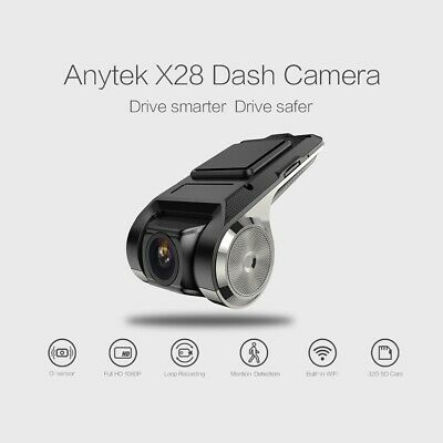 Anytek X28 Car DVR Camera Video Recorder WiFi ADAS G-sensor Dash Cam FHD 1080P