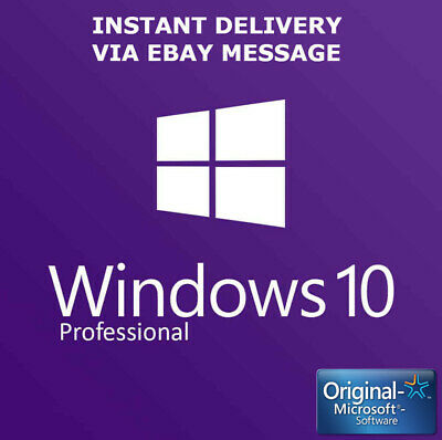 Instant Windows 10 Professional Pro Key 32 / 64Bit Activation Code License Key