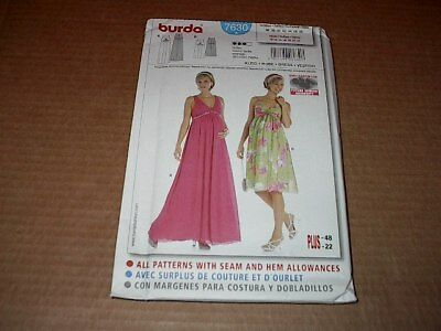 d998412a6158c Burda Pattern 7630 Misses' Maternity Dress in Two Lengths ~ Size 10 ~ 22 ~