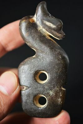 China Hongshan Culture Jade Collectibles Carved Dragon/Sun God Statue/Pendant