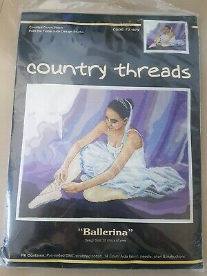 Ballerina Country Threads cross stitch tapestry