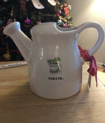 """Rae Dunn """" THRIVE"""" Watering Can NEW"""