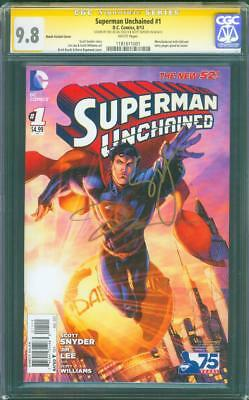 Superman Unchained 1 CGC SS 9.8 2X Jim Lee Snyder 75 yrs Brett Booth Variant