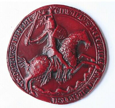 Edward The Confessor Great Wax Seal Red Medieval Reproduction Collectable Gift