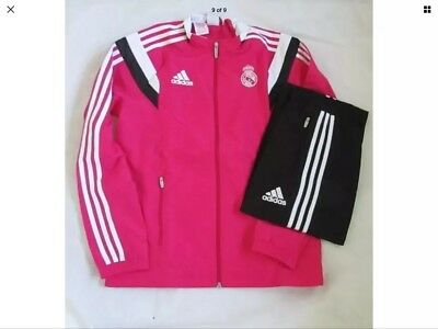 39b73f944 Real Madrid Adidas Official Children s Tracksuit Pink   Black BNWT Age ...