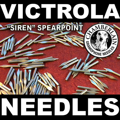 300 SPEAR POINT NEEDLES for Vintage records on Gramophone Victrola Phonographs