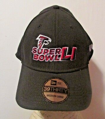 wholesale dealer 2e16f f2b21 NFL Atlanta Falcons Ball Cap Super Bowl LI New Era 39Thirty Size  Medium-Large
