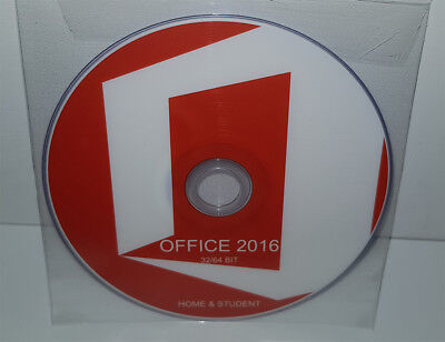 Dvd - Office 2016 Home & Student - 32/64 Bit Full - Français (Microsoft)