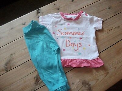 Girls Trousers & Top Outfit Age 3-6 Months