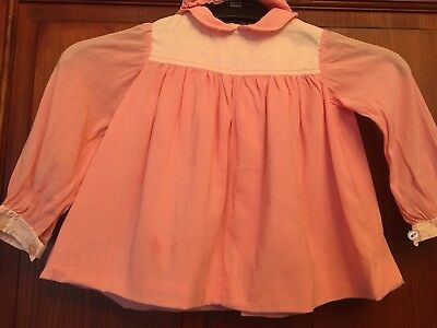 Baby Girl Dress & Bloomers Approx 3-6 Months VINTAGE 1968 (B23)