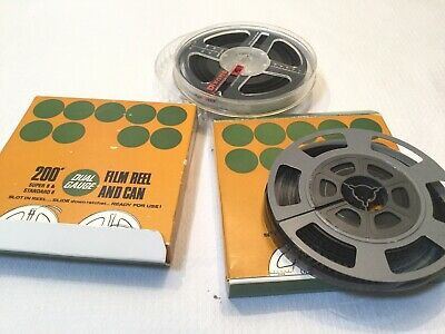 2* 200ft  8mm FILM CINE REEL- REEL & CAN INCLUDES FILM - Dated 1968 &  1969