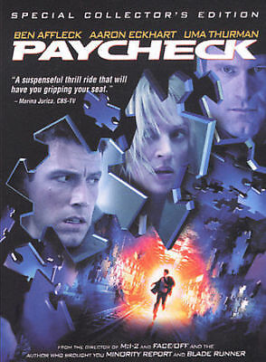 Paycheck (DVD, 2004, Widescreen) New/Sealed Free US Shipping
