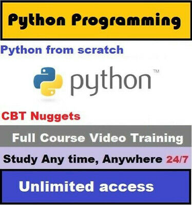 LEARN PYTHON PROGRAMMING from scratch video course- (link to video