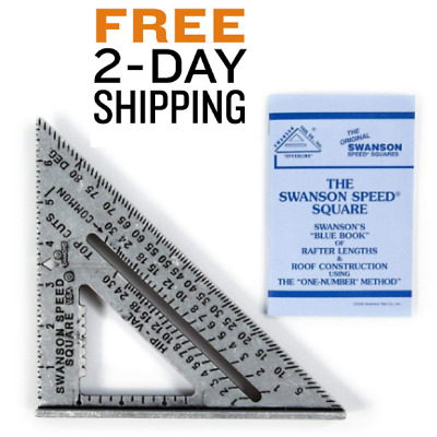 Combination Roofing Framing Tri Speed Square Tool Woodwork shop Rafters Stairs
