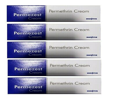 Permethrin-5-W-W-Cream-SCRABIC For Scabies 5 X 30gm Free Shipping