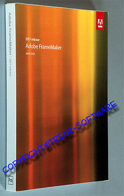 Adobe Framemaker 2017  Windows deutsch mit Orginal-DVD, kein Download - MwSt