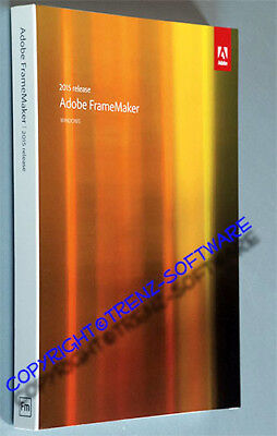 Adobe Framemaker 2015  Windows deutsch mit Orginal-DVD, kein Download - MwSt
