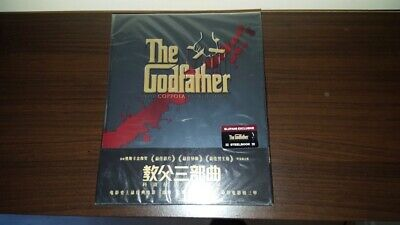 The Godfather Black Edition Blu-ray Blufans Exclusive Steelbook OOP with cards