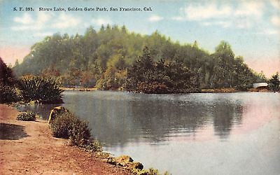 San Francisco CA Still Waters of Stowe Lake at Golden Gate Park c1910