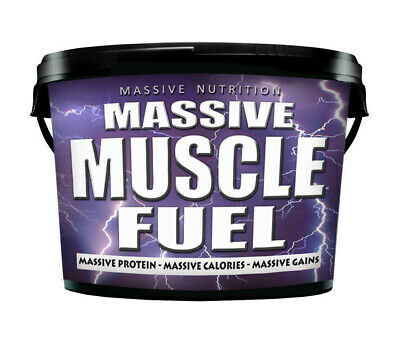 4kg Anabolic Mass Gainer, Weight Gain Whey Protein Powder, MASSIVE MUSCLE FUEL