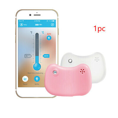 Bluetooth With Alerts Fever Monitor Bracelet APP Mini Baby Thermometer Kids Home