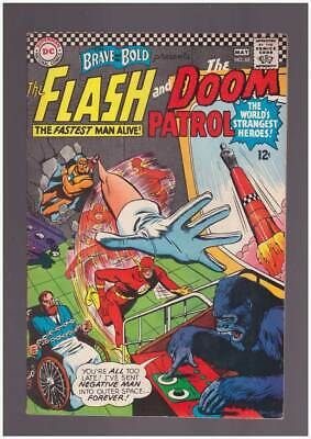 Brave & the Bold # 65  The Flash and the Doom Patrol !  grade 8.0 scarce book !