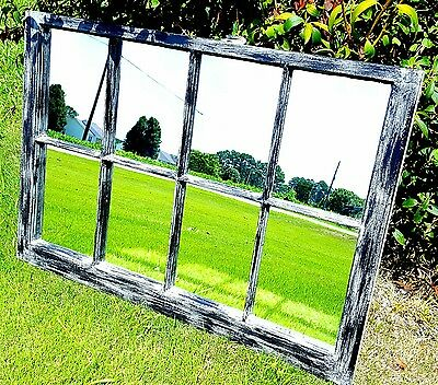 Vintage Sash Antique Wood Window Frame Pinterest 40X28 Black Gray Mirrors Rustic