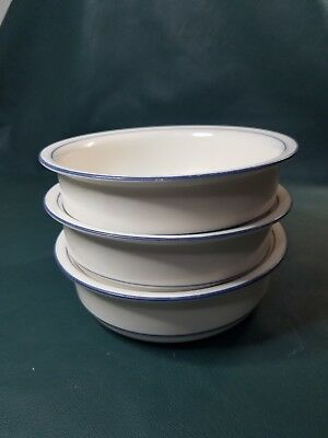 """Lenox Chinastone """"for the blue patterns"""" 6-1/4"""" Soup/Cereal Bowls USA Lot of 3"""
