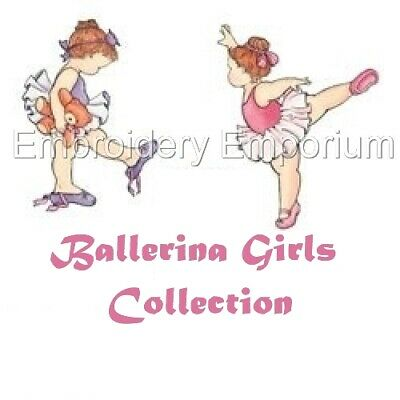 Ballerina Girls Collection - Machine Embroidery Designs On Cd Or Usb