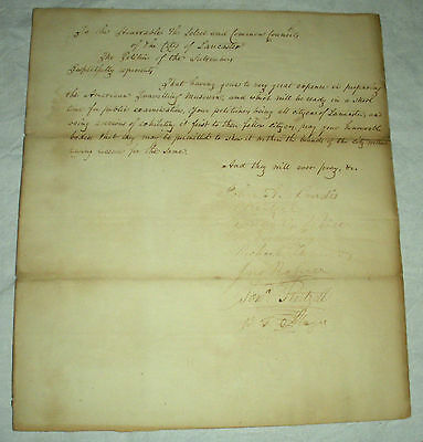 1835 REQUEST TO EXHIBIT MUSEUM OF AMERICANA IN LANCASTER PA. BY JOHN LANDIS vafo