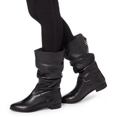 a7555baaf08 DUNE ROSALIND SLOUCHY Leather Waterresistant boots Black 41/10